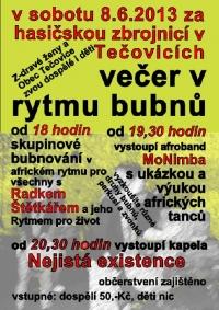 Večer afro rytmů v Tečovicích