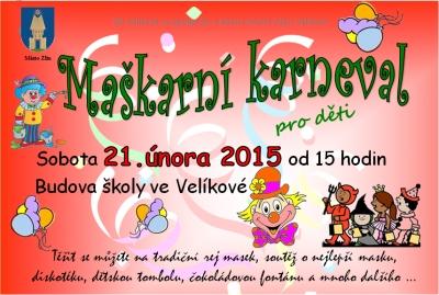 Maškarní karneval Veliková u Zlína
